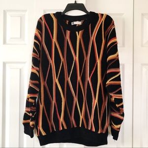 Bachrach Striped Coogi Style Sweater XL